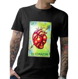 "Men's Soft Ringspun ""EL CORAZON"" T-Shirt"