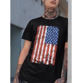 """Men's Soft Ringspun """"AMERICAN FLAG"""" T-Shirt"""