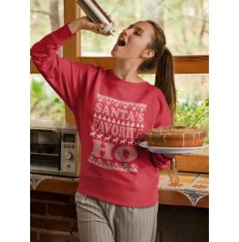 "New ""SANTA'S HO"" Women's Crew Neck Sweatshirt"