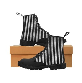 Grunge striped gents combat boots rebelsmarket