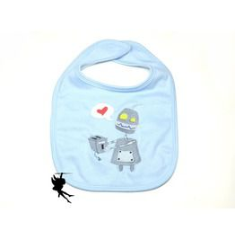 *Robot Love* Baby Bib Interlock