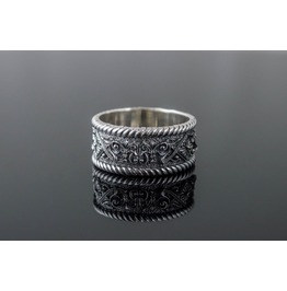Norse Ornament Ring, Scandinavian Style, Norse Jewelry, Viking Ornament