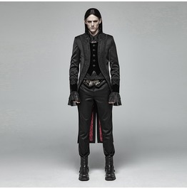 Men's Gothic Contrast Color Dovetail Overcoat