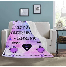 Ouija Board Blanket Gothic Home Decor Pastel Goth Blanket