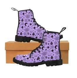 Pastel Goth Boots Gothic Shoes Witch Boots Pentagram Occult Witchcraft