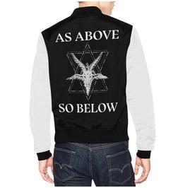 Satanic Clothing Baphomet Men Jacket Occult Satan Jacket