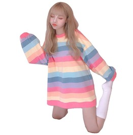 Pastel Rainbow Long Sleeved T-Shirt