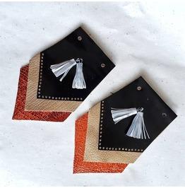 Red Leather Tassel Shoe Accessory | Patent Leather Shoe Clips Kiltie Fringe