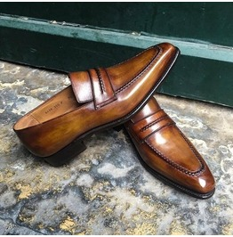 Handmade Tan Brown Leather Men's Shoes, Leather Moccasins Loafer Shoes