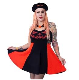 Jack O Latern Pumpkin Pinafore Dress