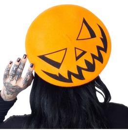 Trick Or Treat Pumpkin Orange Beret