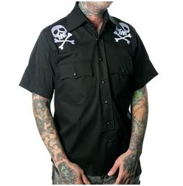 Harlock Skull X Bones Western Shirt