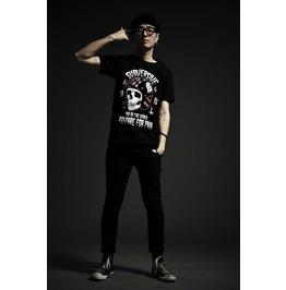 Cool Skull Head Pattern T Shirt Fashion Tee Punk