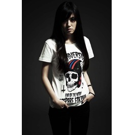Cool Skull Head Pattern T Shirt Fashion Tee Punk