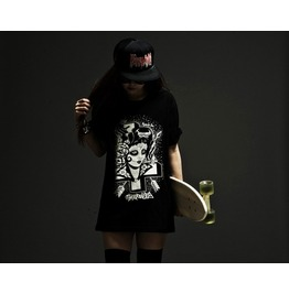 Vintage Girl Print Punk Style T Shirt Tee
