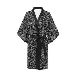 Spiderweb Black Kimono Robe Gothic Clothing Goth Robe