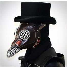Steampunk Domineering Plague Beak Mask Halloween Prom Party Props