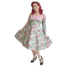 Halter Straps Bareback Sweetheart Neckline Floral Circle Skirt Summer Dress