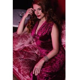 Long Velvet Deep V Neck Burgundy Hooded Mermaid Dress