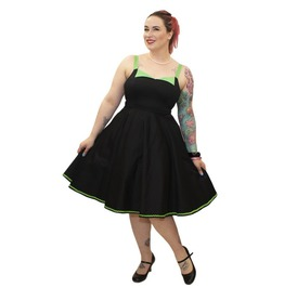 Vintage Strappy Decorative Bust Flaps Circle Skirt Dress