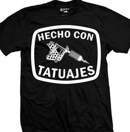 Hecho Con Tataujes Black T-Shirt