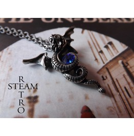 Kaleesi Gothic Dragon Necklace Steamretro