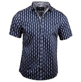 Pin-up Rockabilly Vector Arrows Pattern Short Sleeve Button Up Cotton Shirt