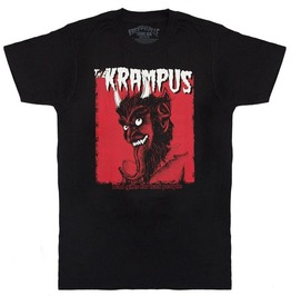 Bad Gifts For Bad People Krampus Head Print Slim Fit Cotton T-shirt