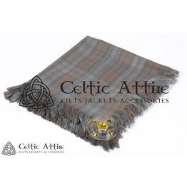 "Black Watch Weathered Tartan Scottish Piper KILT FLYPLAID (48"" X 48"")"