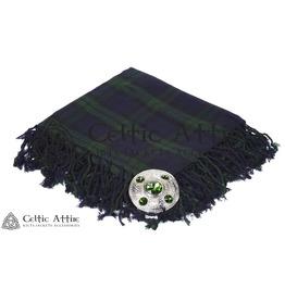 """Black Watch Tartan Scottish Military Piper KILT FLYPLAID (48"""" X 48"""")"""