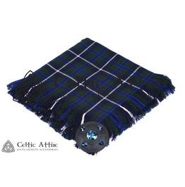 "Blue Douglas Tartan Scottish Military Piper KILT FLYPLAID (48"" X 48"")"