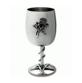 Stainless Steel Pentagram Base Rose Chalice