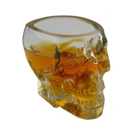 Clear Glass Skull Mold Over-sized Shot Glass