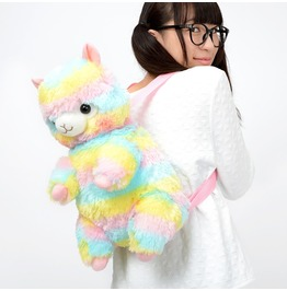 Kawaii Rainbow Alpaca Backpack