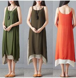 Women Ethic Bohemian Maxi Dress Gypsy Sleeveless