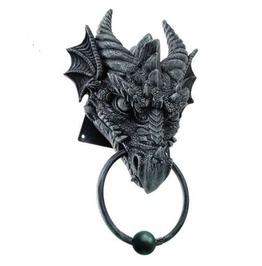 Stone Gray Dragon Head Door Knocker