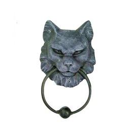 Gargoyle Cat Metal Ring Door Knocker