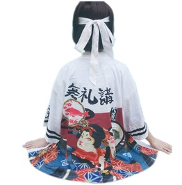 Ukiyoe Cat T-Shirt Or Kimono Jacket