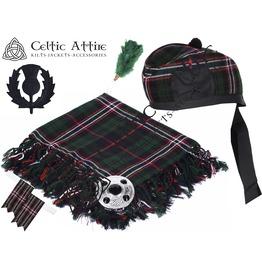 Scottish National Tartan - 6 Pcs Kilt Accessories Package