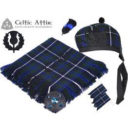 Blue Douglas Tartan - 6 Pcs Kilt Accessories Package