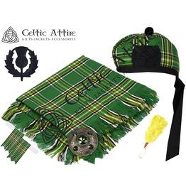 Irish Tartan - 6 Pcs Kilt Accessories Package