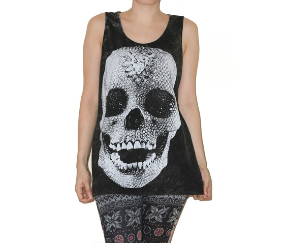 crystal_diamond_skull_black_shirt_tank_top_tunic_size_l_fashion_tops_2.jpg