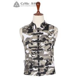 Men's Sleeveless Cotton Vest - Urban Camo - Steampunk Pattern