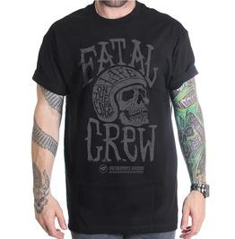 Helmet Skull Life On The Edge Print O-neck Short Sleeve T-shirt