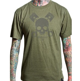 Skull Print Round Neck Short Sleeve Regular Fit Cotton T-shirt
