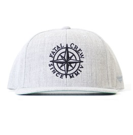 Fatal Crew Compass Embroidery Gray Hat
