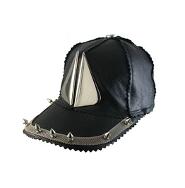 Black Leather Baseball Cap Urban Destroyer