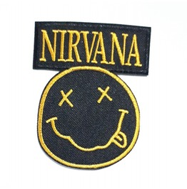 Nirvana Embroidered Iron on Patch.