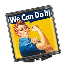 We Can Do It Square Compact Mirror