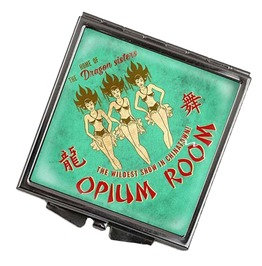 Dragon Sisters Opium Room Square Compact Mirror